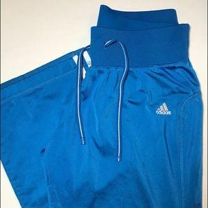 Blue ADIDAS White Stripped Sweatpants Size Medium